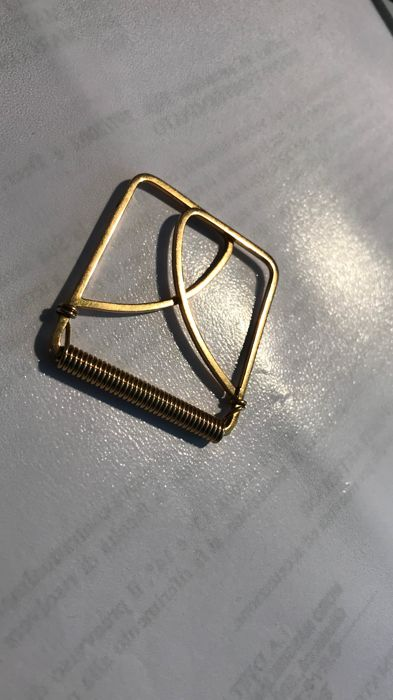 Money clip made of solid 18 kt gold, 13.7 g
