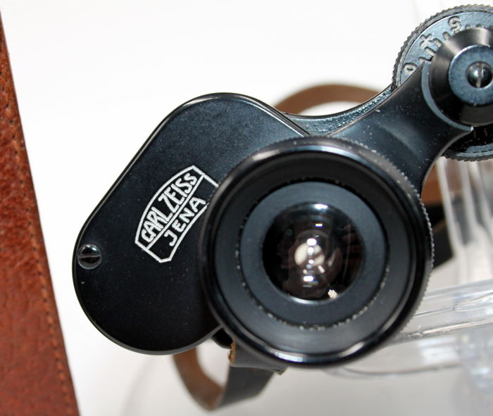 Legendary binoculars 1939 - Carl Zeiss Jena Deltrintem 8x30 - NEW - with box and leather case
