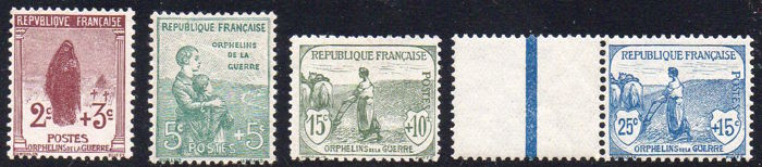 France 1917 - War Orphans - Start of 1st Series - Yvert 148/151