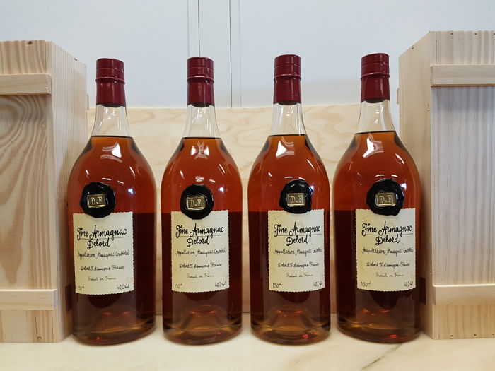 4 Magnums - 150 cl - Fine Armagnac Delord