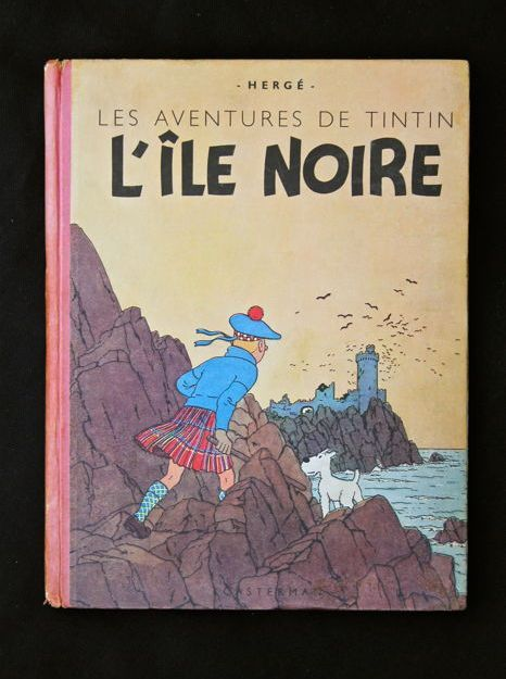 Tintin T7 - L'Ile Noire - alternate edition - version annotated by Hergé - hc - (1943)