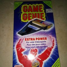 The Game Genie for the NES, made by Galoob.packaging!! Rare!