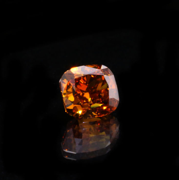 Rare collection stone, 1.00 ct. Natural Deep Brownish Orange Diamond, GIA Certified