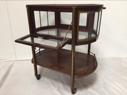 Ernst Rockhausen Und Söhne - Mahogany serving trolley with glazed sides