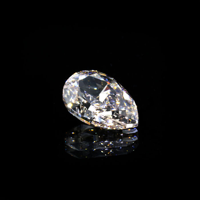 N color 1.14 ct. VS1 Pear shape Diamond, GIA Certified