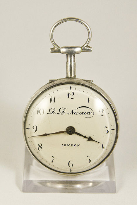 D.D.Neveren.London Pocket watch Silver 1780-1800 - Hombre - 1780-1800