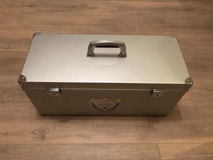 Dom Perignon Champagne 6 Liter Metal Collectors Display/Carrying Case