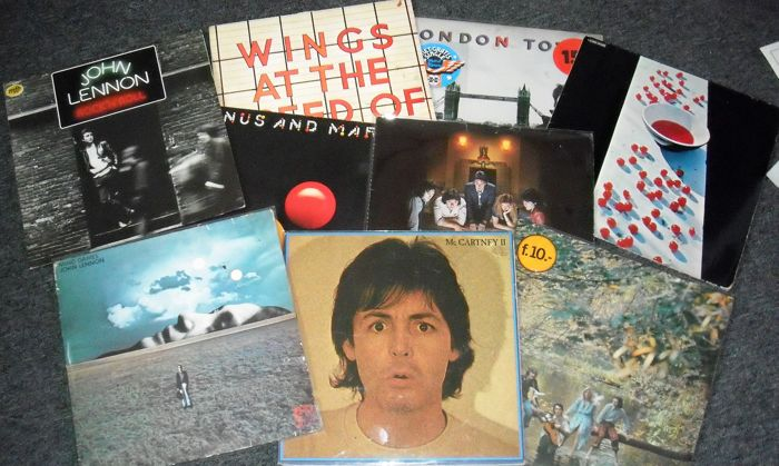 lot of 9 LP Albums by John Lennon , Paul McCartney and Wings