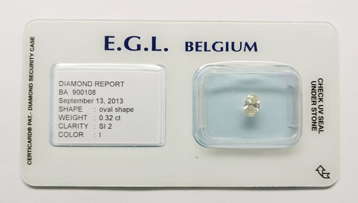 0.32 ct Oval Cut Diamond I SI2 *** No Reserve ***