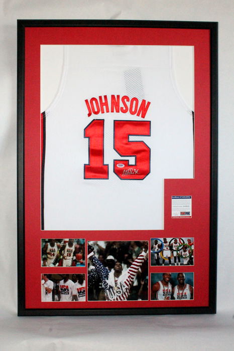 Magic Johnson - Cam. Firmada. Nike Original Reedición Dream Team 92 #15
