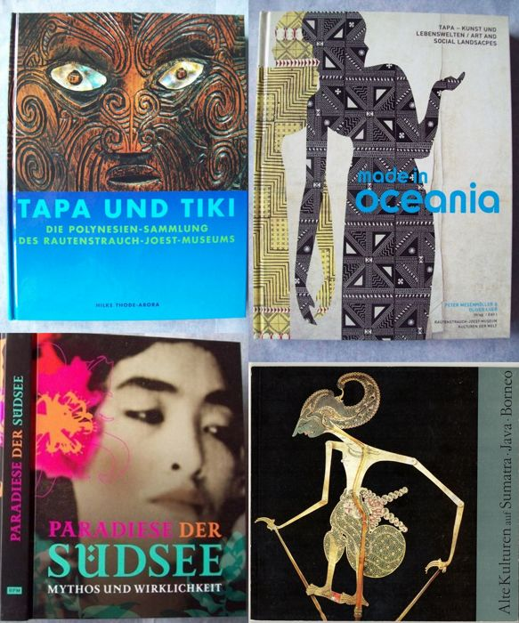 Lot with 4 Books on Tribal Art of Indonesia & Oceania.