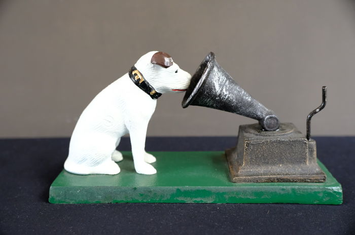 His Master Voice Dog and Record Player Ornament  - Iron Rogers Foundry Birmingham