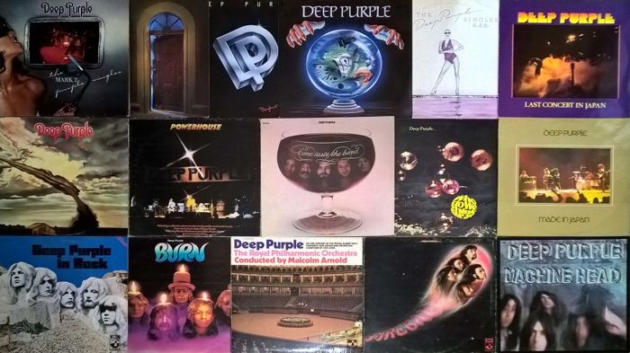 Deep Purple - Lot of 17 LP Albums