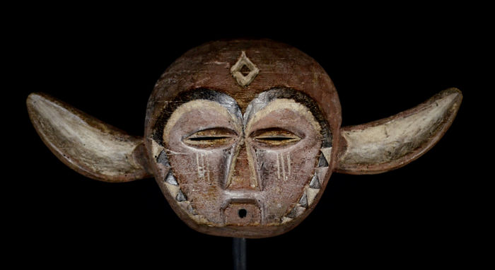 Nice African Tribal Panya Ngombe PENDE Mask. Democratic Republic of the Congo.