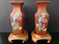 Set of Yixing vases - China - late republic, around 1949