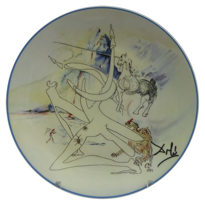 Salvador Dali for Limoges - Plate from the series 'La conquête du cosmos'