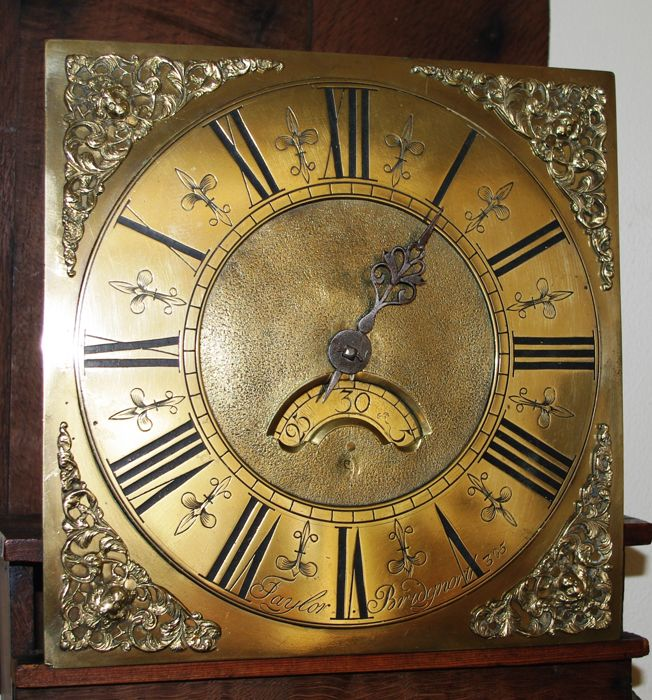 dating brass dial longcase clocks