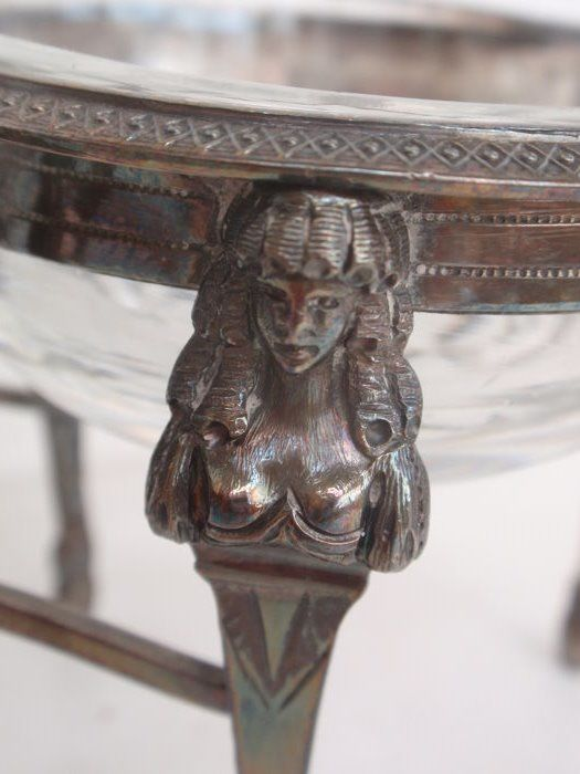 Double silver salt shaker with busty ladies, Paris, France, circa ...