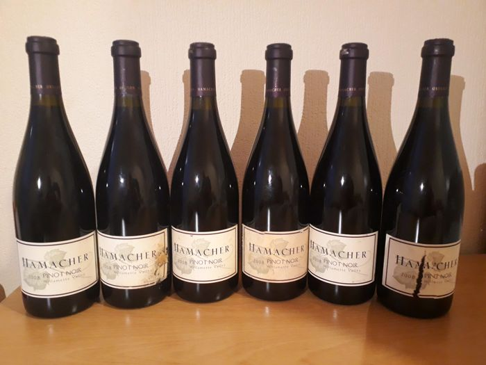 2008 Pinot Noir, Hamacher Wines, Willamette Valley, Oregon, USA x 6 bottles