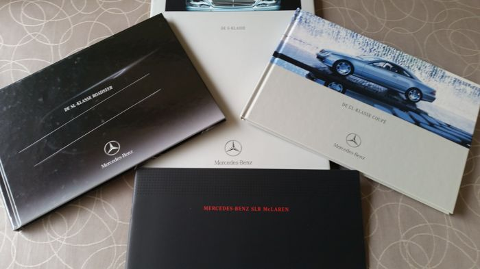 4 x Official catalogues Mercedes + Mclaren