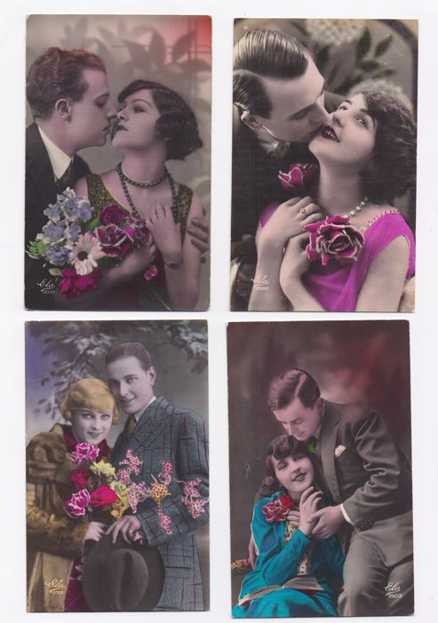 Love & Being in Love - 110x - Beautiful nostalgic cards, theme Love & Being in Love - Period 1900-1945 - Good to very good quality