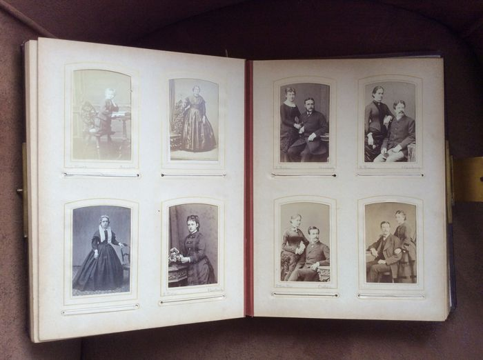 Photo Album With Six Carte De Cabinet And 136 Visite