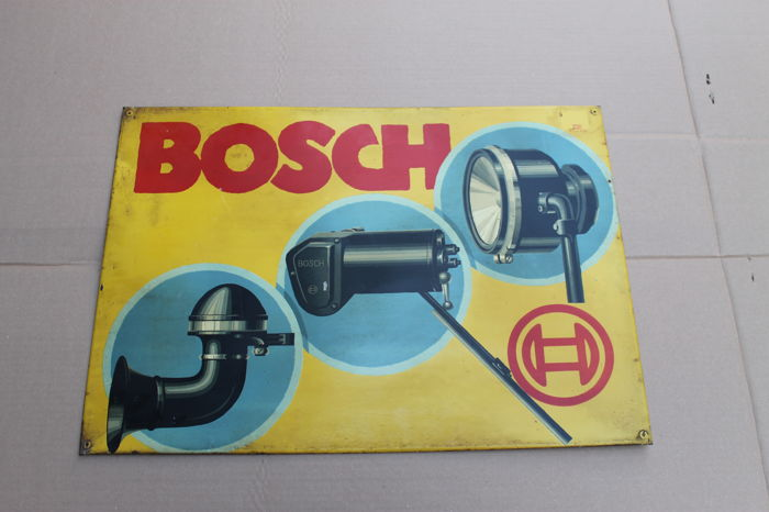 BOSCH 1925 - rare advertising BERNARD ROSEN, signed
