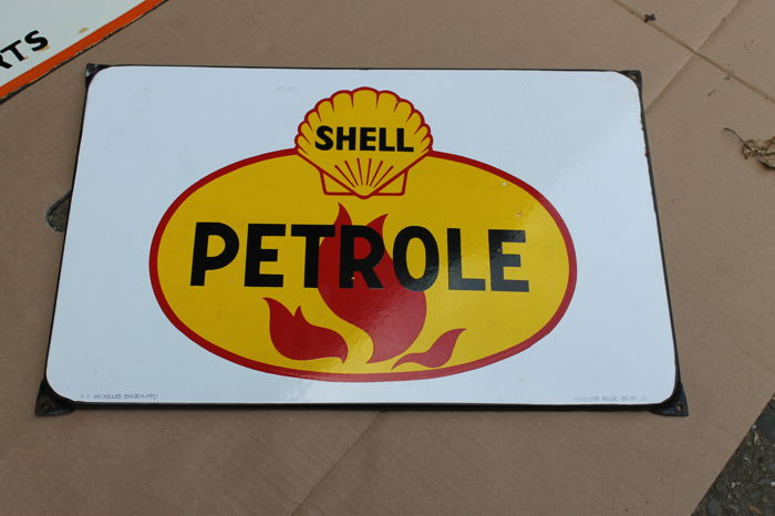 SHELL 1958- emaille bord