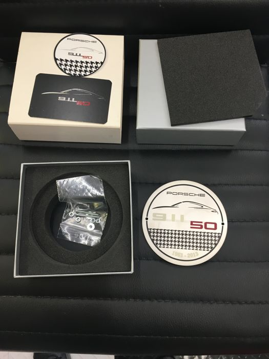 Porsche 911 50th Anniversary plaque