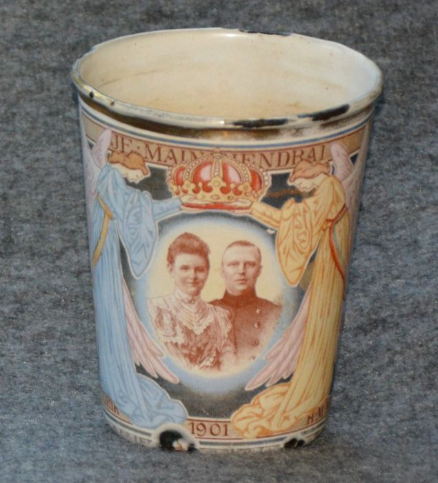 Enamelled beaker celebrating the marriage of Queen Wilhelmina and Prince Hendrik