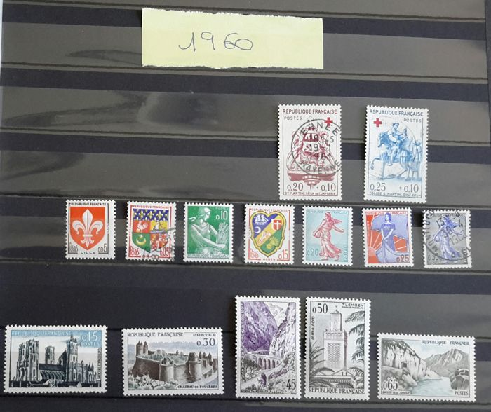 France 1960/1969 - Complete collection of stamps - Yvert N° 1230 to 1620