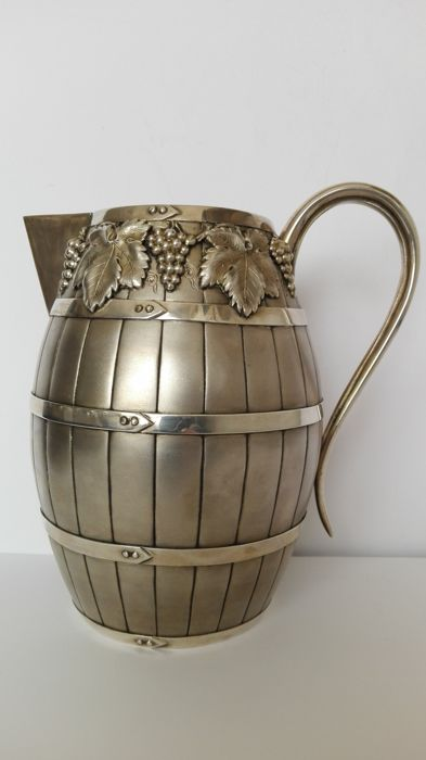 Original silver jug, with vermeil interior - probably handmade in Italy in the late 19th / early 20th centuries