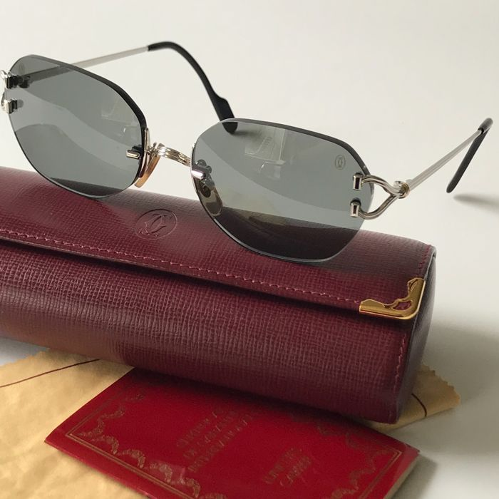 f1b288438b32 Cartier - Chelsea Platine C Decor Sunglasses - Vintage - Catawiki
