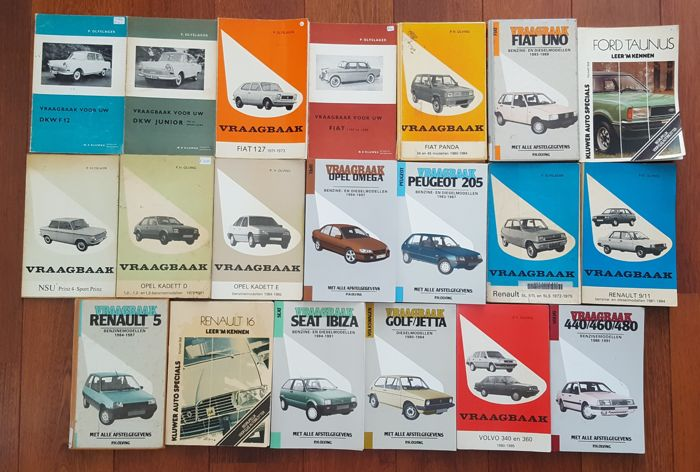 Lot of 20 Q and A booklets varying from DKW to Volvo