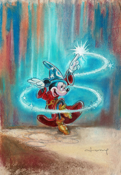 Mickey Mouse - The Sorcerer's Apprentice - Original Painting - Tony Fernandez