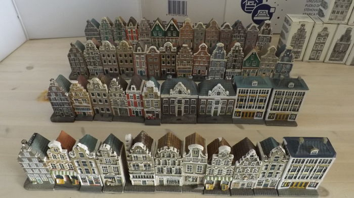 Diverse H0 - Scenery - Party various canal houses and gabled houses