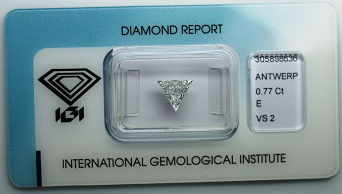 Diamant - 0.77 ct - Driehoek - E - VS2