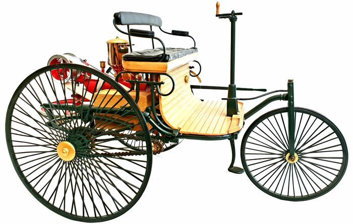 Franklin Mint - Scale 1/8 - Mercedes Benz Patent Motorwagen 1886 - With c.o.a. and all documents - With many 24 carat gold parts - Made out of 275 different components.