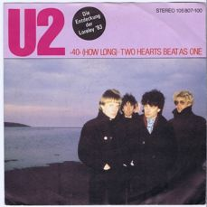"""U2 - -40- (How Long) / Two Hearts Beat As One (Island 105 807) made in Germany 1983 PS 7"""" 45"""