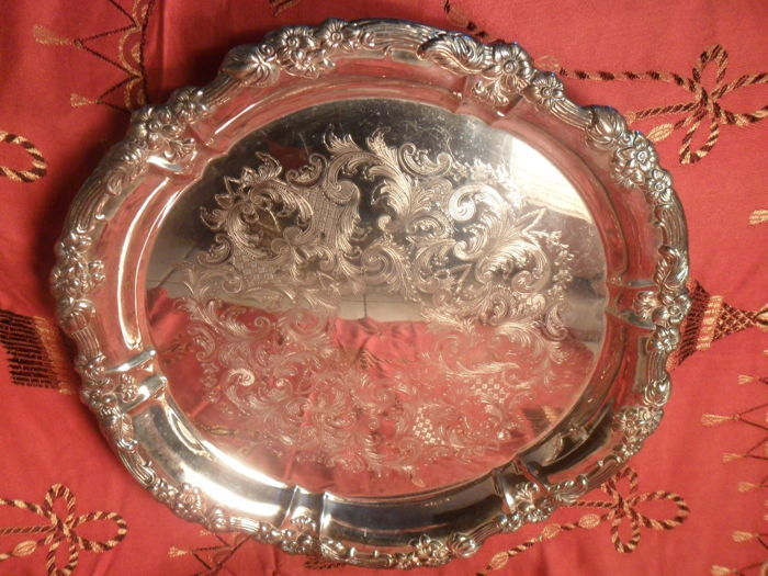 Antique George III Old Sheffield Silver Plated Tray,Italy-19th century