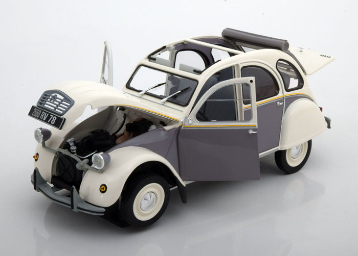 Norev - 1:18 - Citroen 2CV Dolly Jaar 1985 - Kleur Meije White & Cormoran Grey