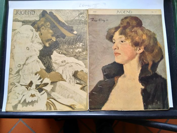 JUGEND illustrated magazine 1907, Art Nouveau, 4 issues
