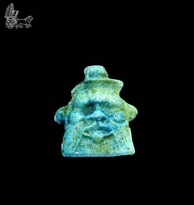 Pendant of the God Bes, ancient Egypt - 2 cm