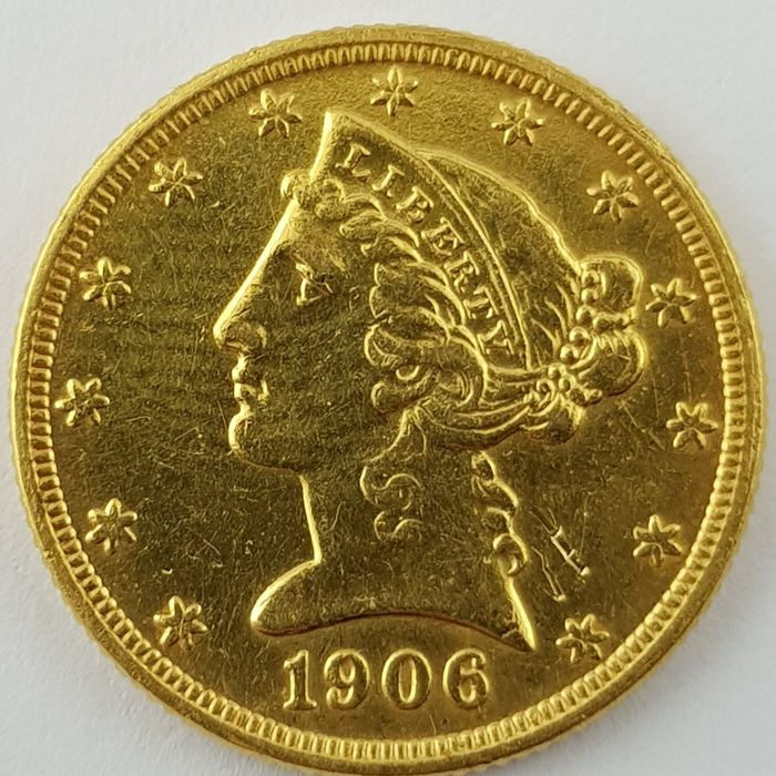United States - 5 Dollars 1906' Liberty Head ' - gold