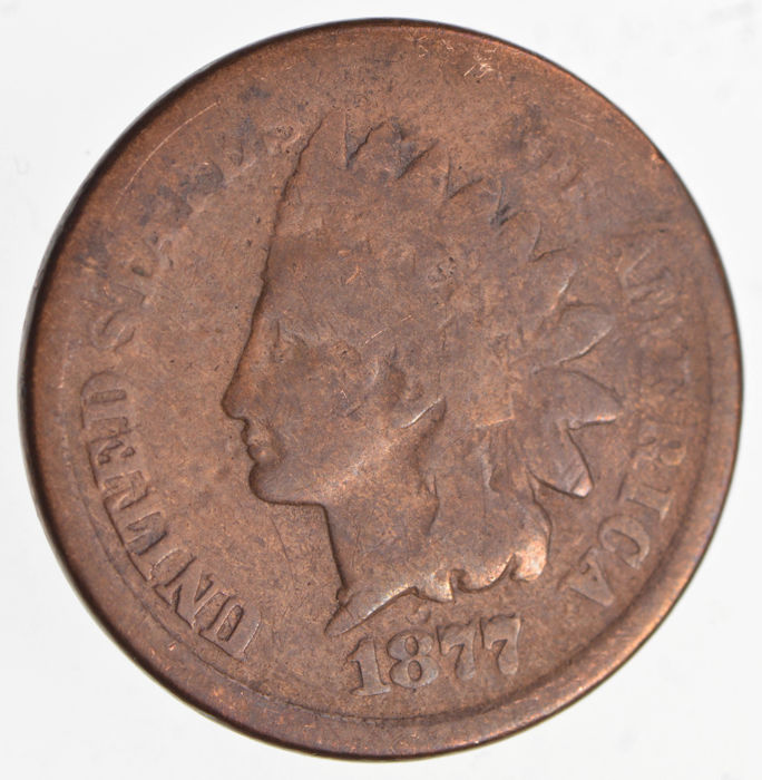 United States - 1 Cent 1877 'Indian head'