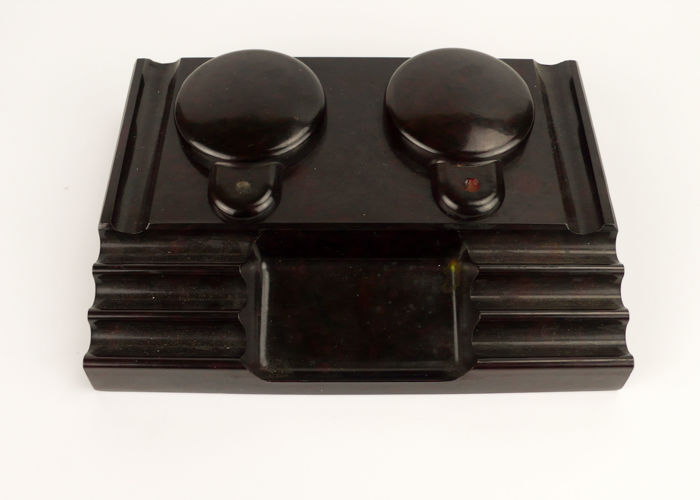 Desktop inkwell in Bakelite - Art Deco C.1930