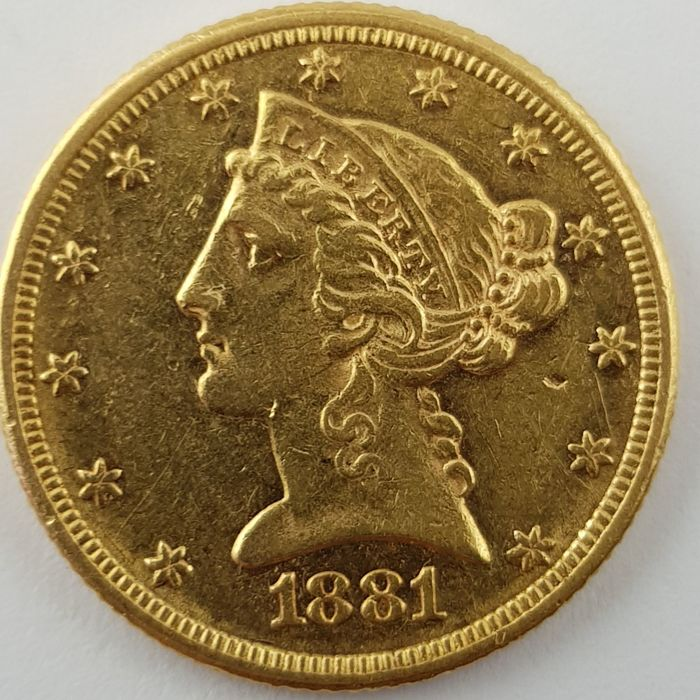 United States - 5 Dollars 1881' Liberty Head ' - gold