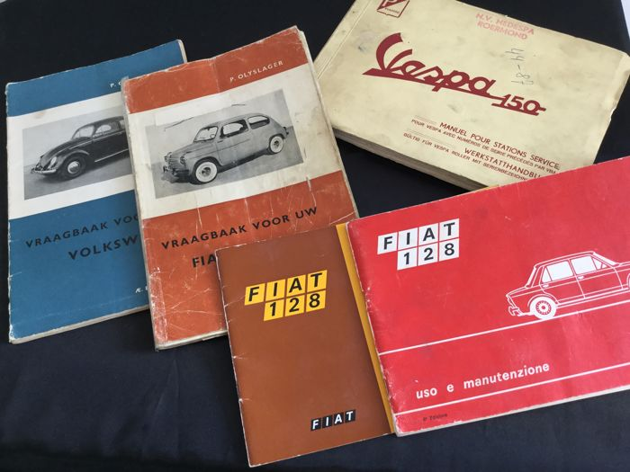 Instruction booklets Fiat - Volkswagen - Vespa