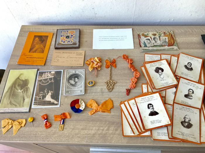 A collection of rare and antique collectibles with regards the Netherlands Royal family