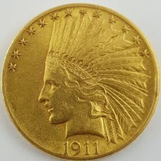 United States - 10 Dollars 1911 ' Indian Head ' - gold
